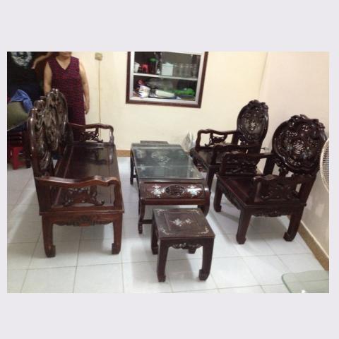 bàn ghế gỗ gụ quảng bình